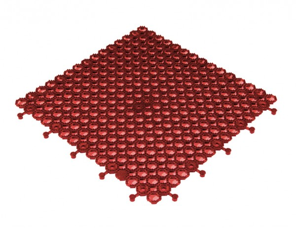 Klikvloer Ouddoor PVC Universal 500x500 mm honingraad